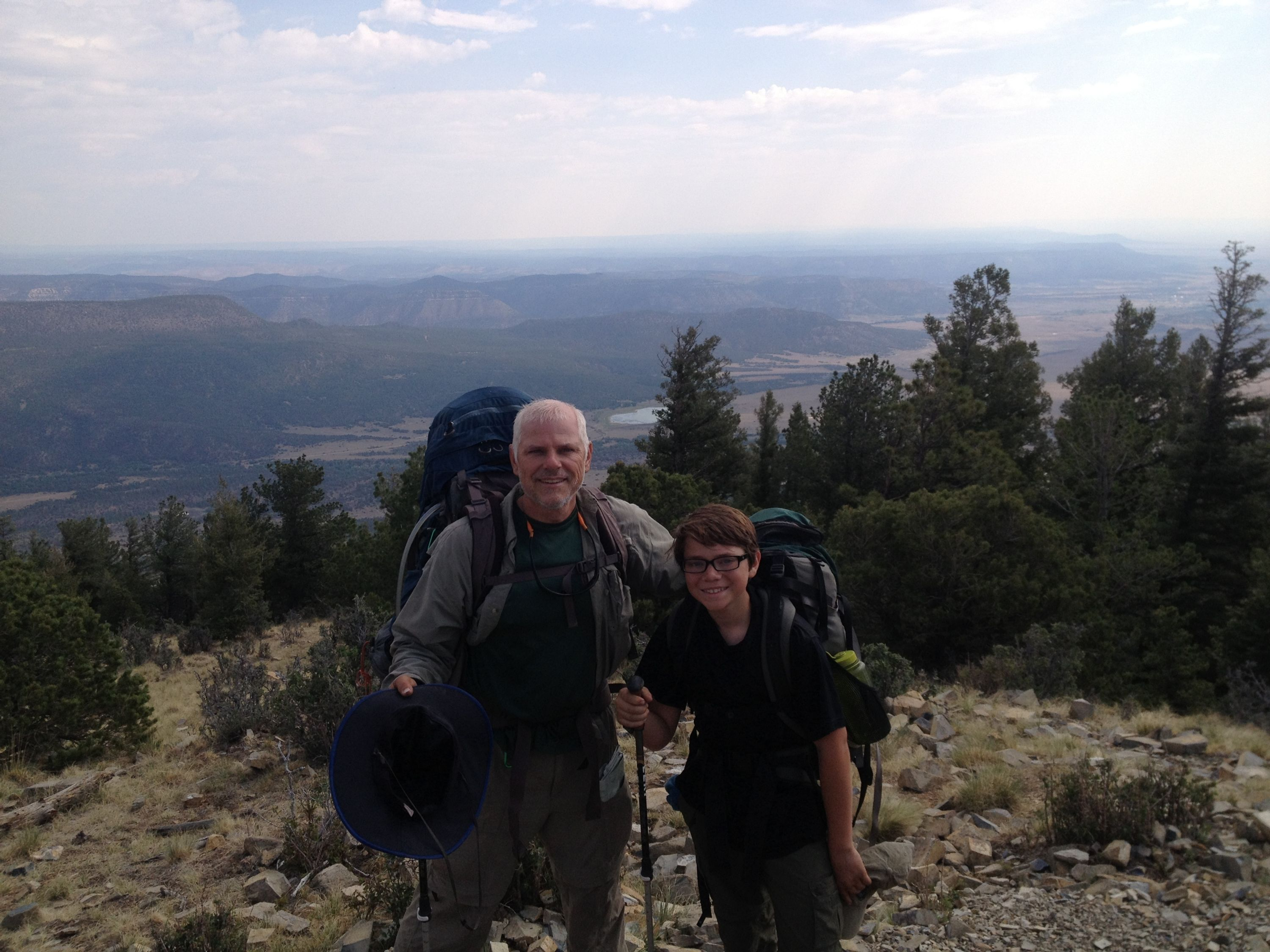 Father and Son Backpacking