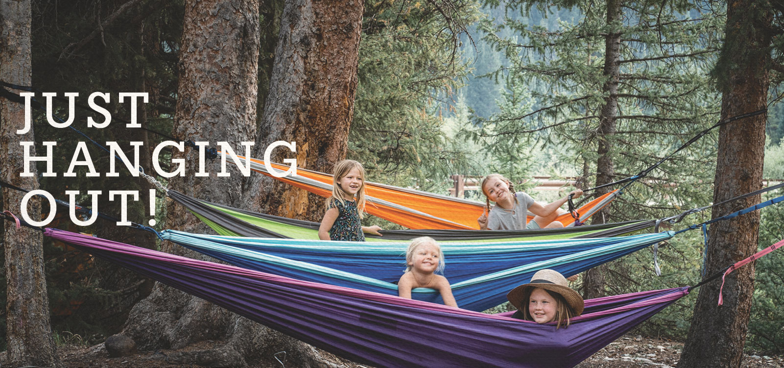 Kids Hanging Out in Hammocks