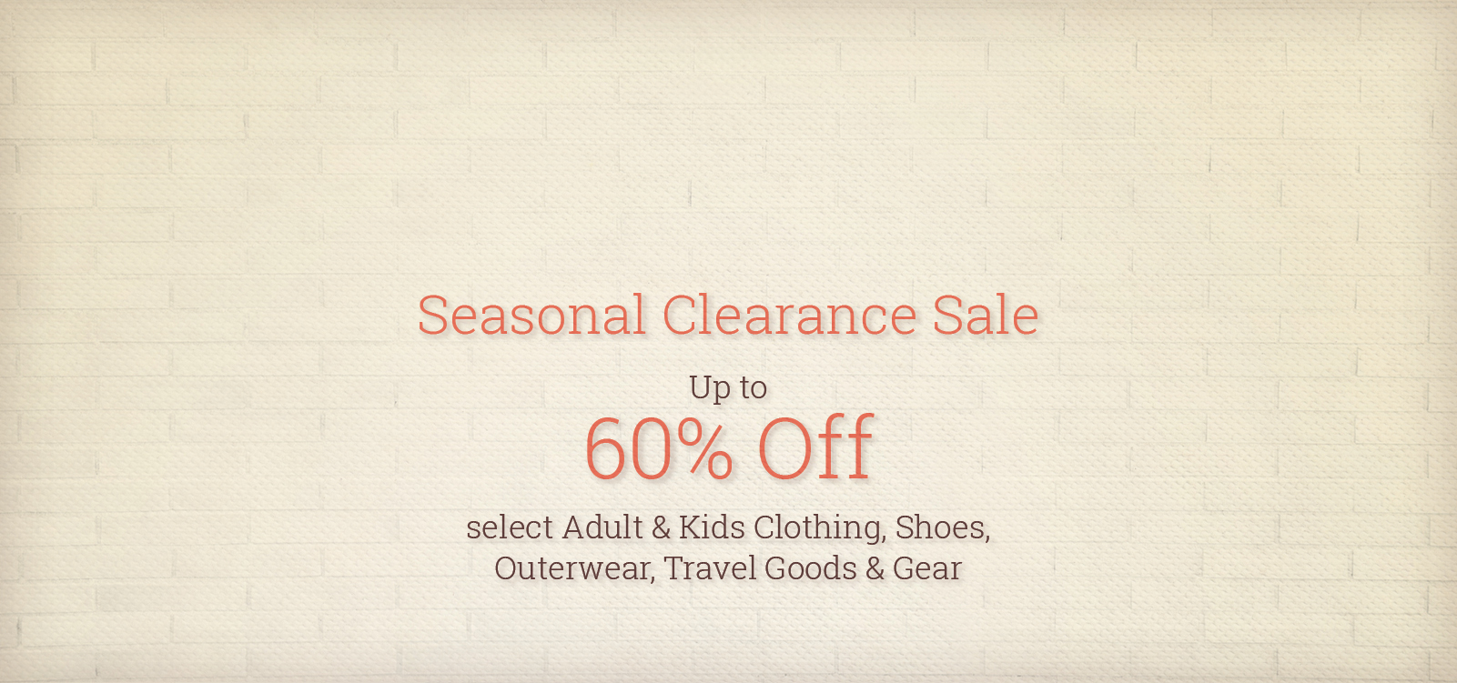 Seasonal Clearance Sale