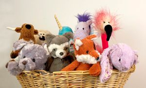 stuffed animals and puppets
