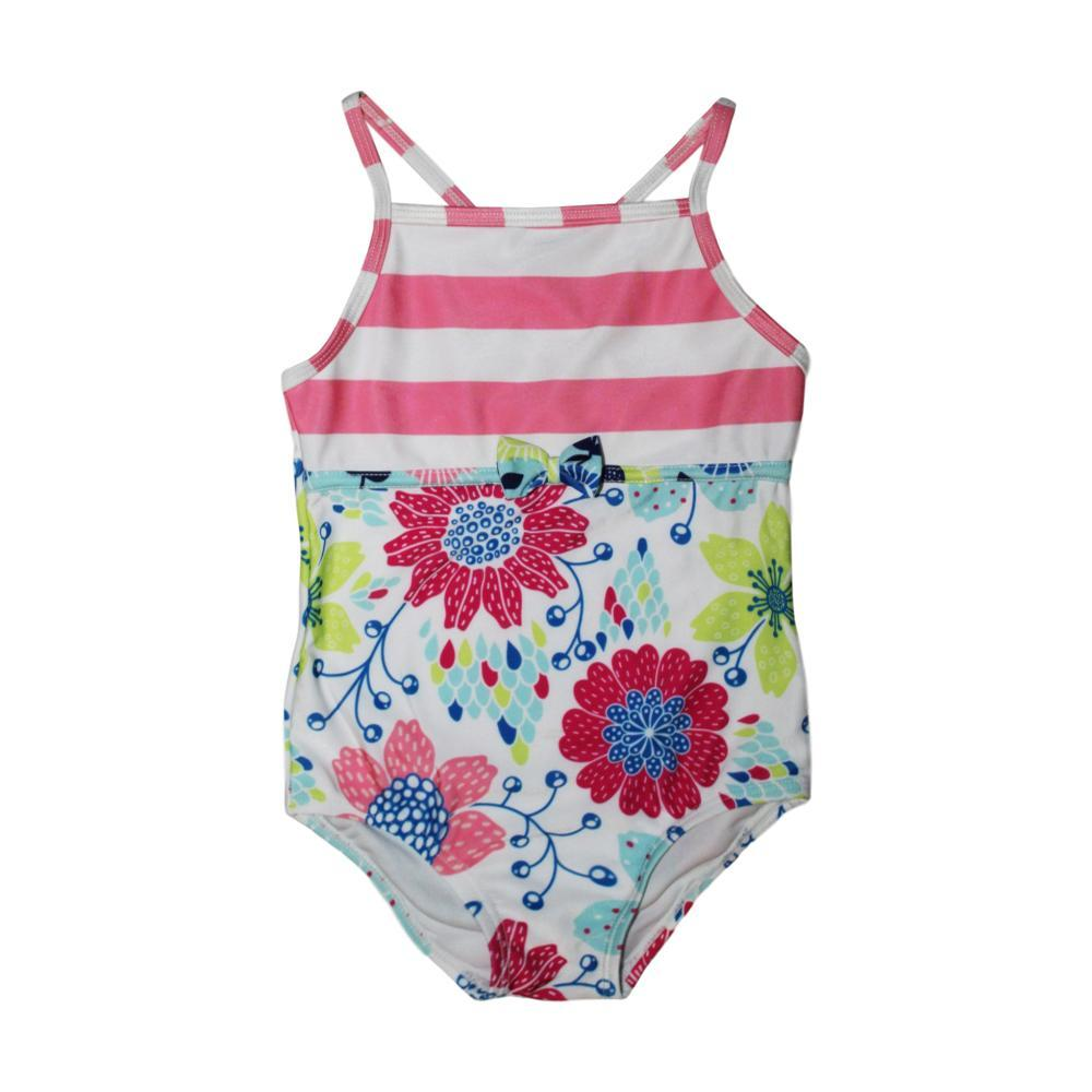 Mary Elyse Kids Lindsay Floral One Piece Swimsuit FLWRSTRIPE