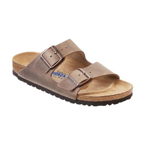 Birkenstock Women's Arizona Soft Footbed Oiled Leather Sandals Tobacco