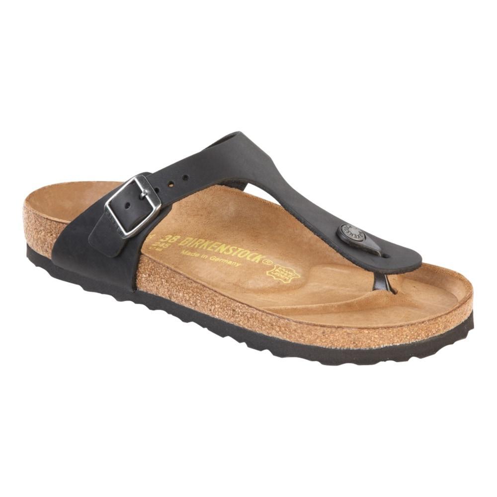 Birkenstock Women's Gizeh Leather Sandals BLACK