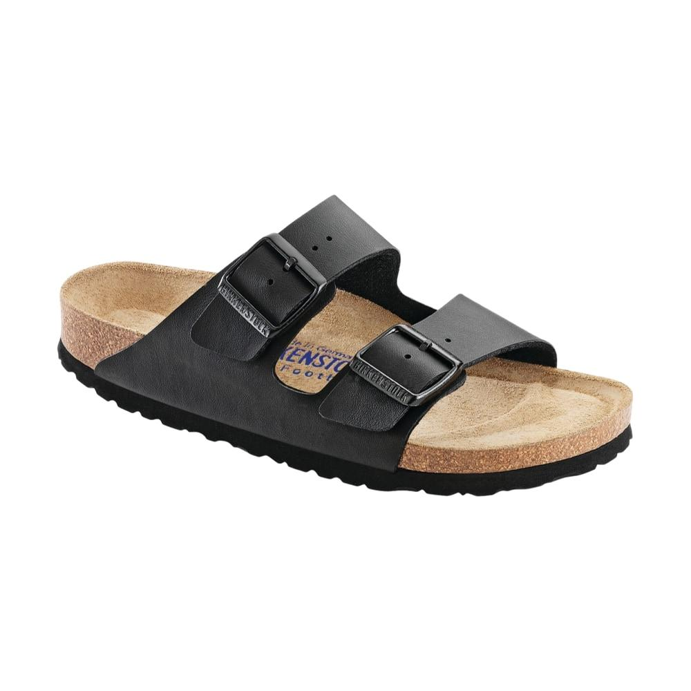 Birkenstock Women's Arizona Soft Footbed Birko-Flor Sandals  BLACK