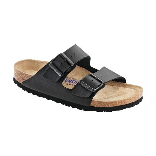 Birkenstock Women's Arizona Soft Footbed Birko-Flor Sandals Black