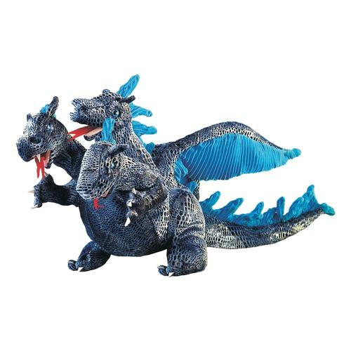 Folkmanis Three-Headed Dragon Blue Hand Puppet