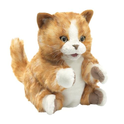 Folkmanis Orange Tabby Kitten Hand Puppet