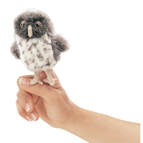 Folkmanis Mini Spotted Owl Finger Puppet
