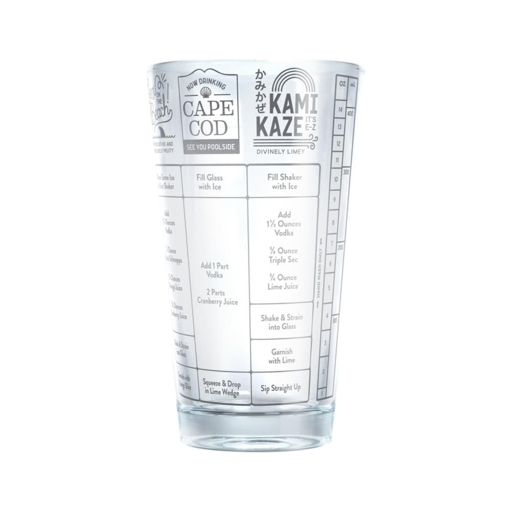 Fred Good Measure Recipe Glass - Vodka