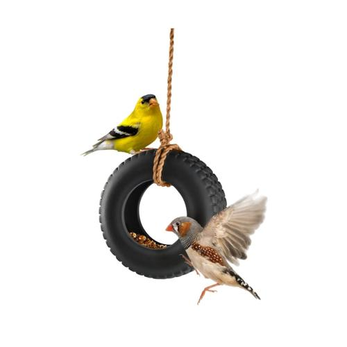 Fred Swing Time Ceramic Bird Feeder