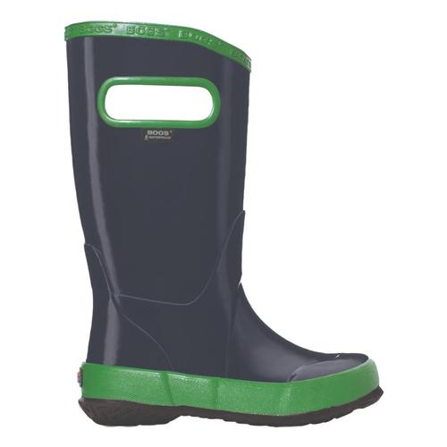 Bogs Kids Rain Boots Solid Color NAVY