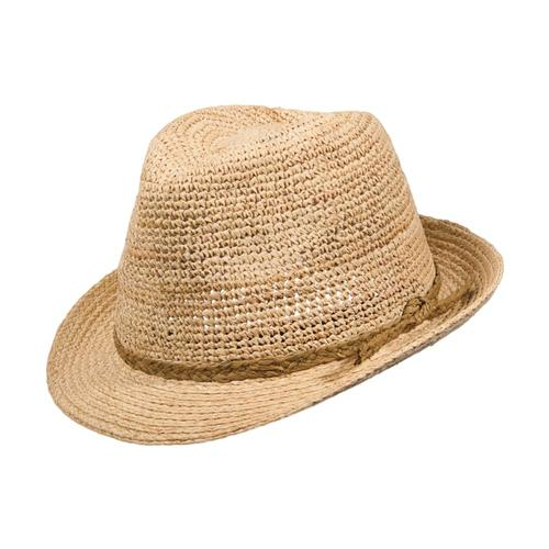 Dorfman Pacific Women's Crocheted Raffia Fedora