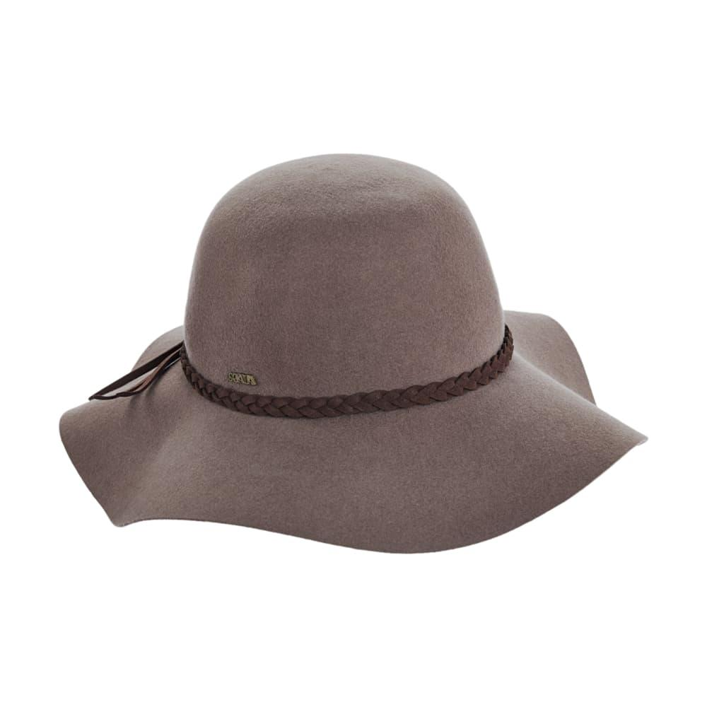 Dorfman Pacific Women's Wool Felt Braided Band Floppy Hat TAUPE