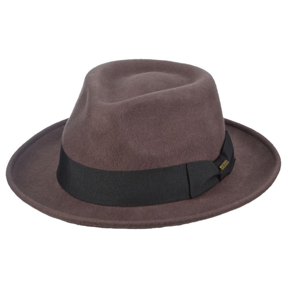 Select Color Dorfman Pacific Men s Wool Felt Fedora CHOCOLATE ... cc5e0a0c04c