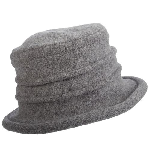 Dorfman Pacific Women's Wool Cloche Grey