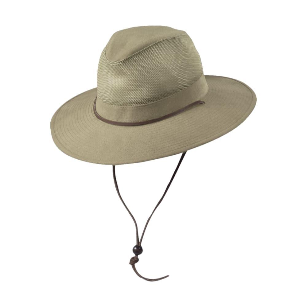 Dorfman Pacific Men's Canvas Mesh Safari Hat KHAKI