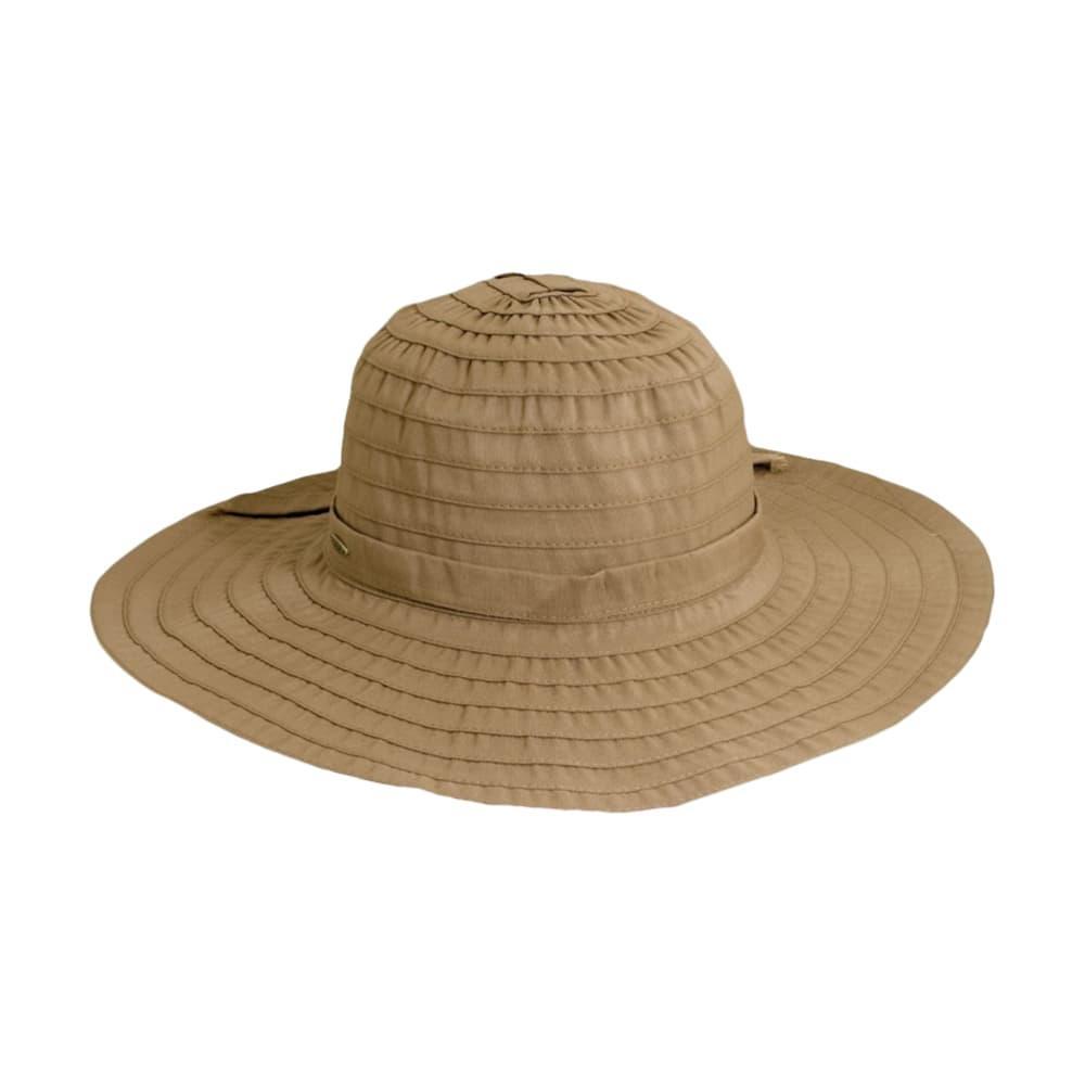 Dorfmam Pacific Women's Ribbon Crusher Hat TAN