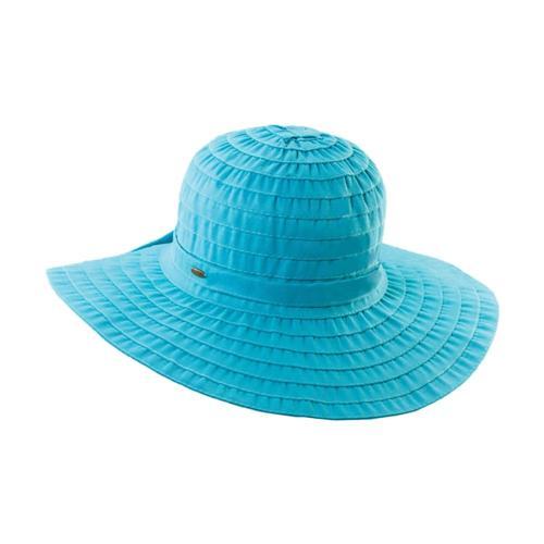 Dorfmam Pacific Women's Ribbon Crusher Hat Turq.