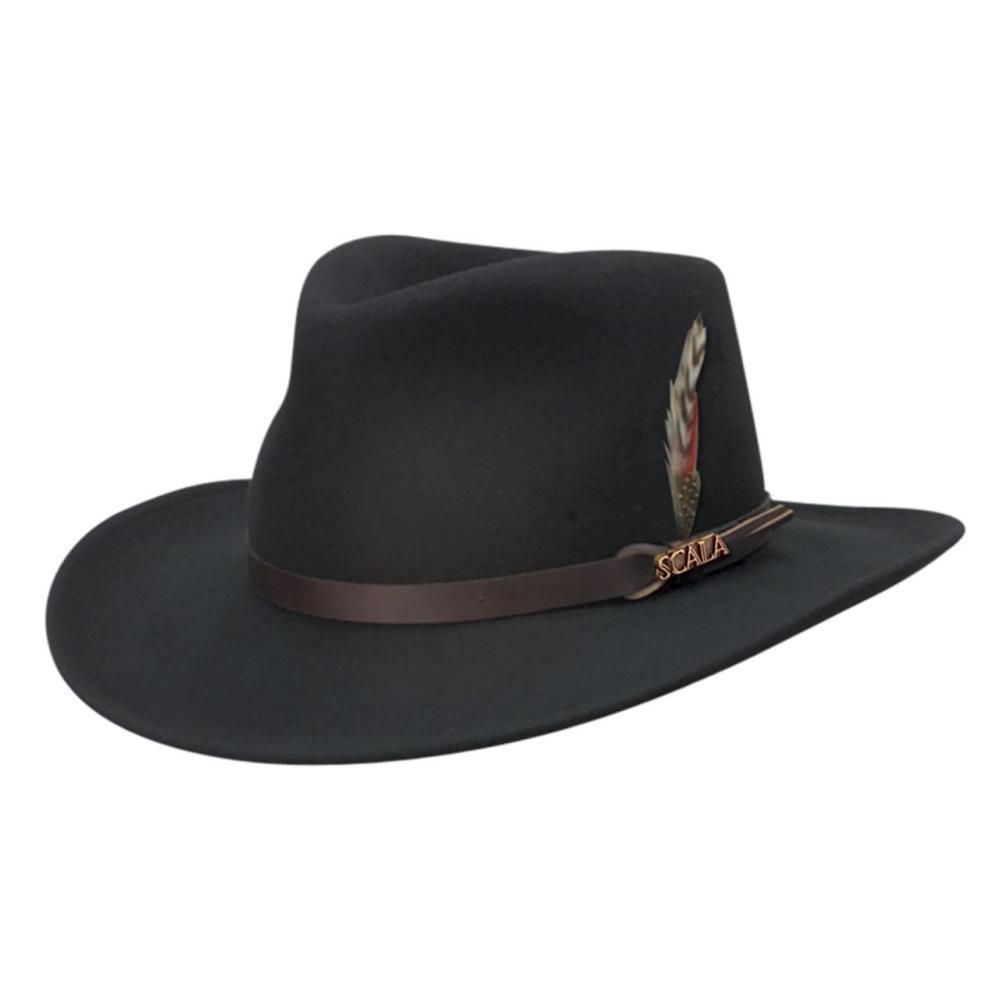 Dorfman Pacific Men's Crushable Outback Hat BLACK