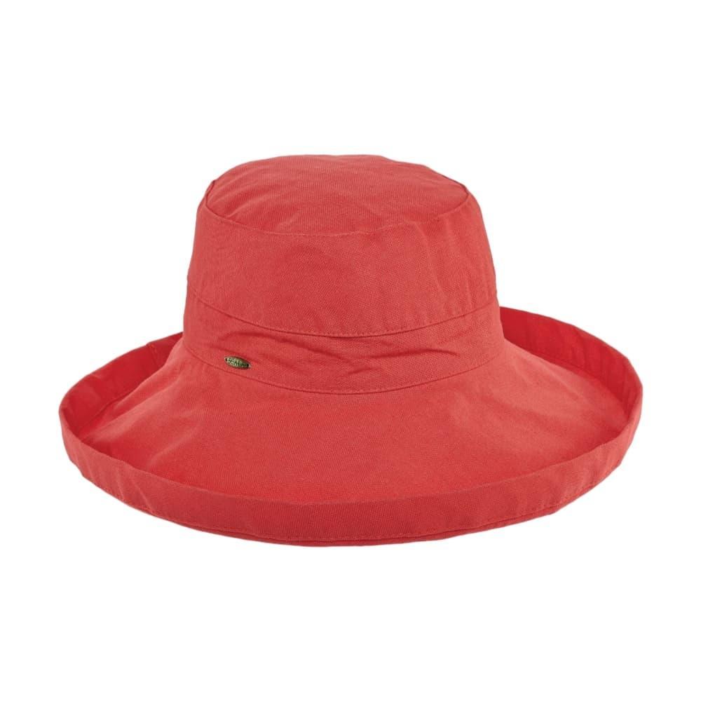 Dorfman Pacific Women's Big Brim Bucket Hat CORAL