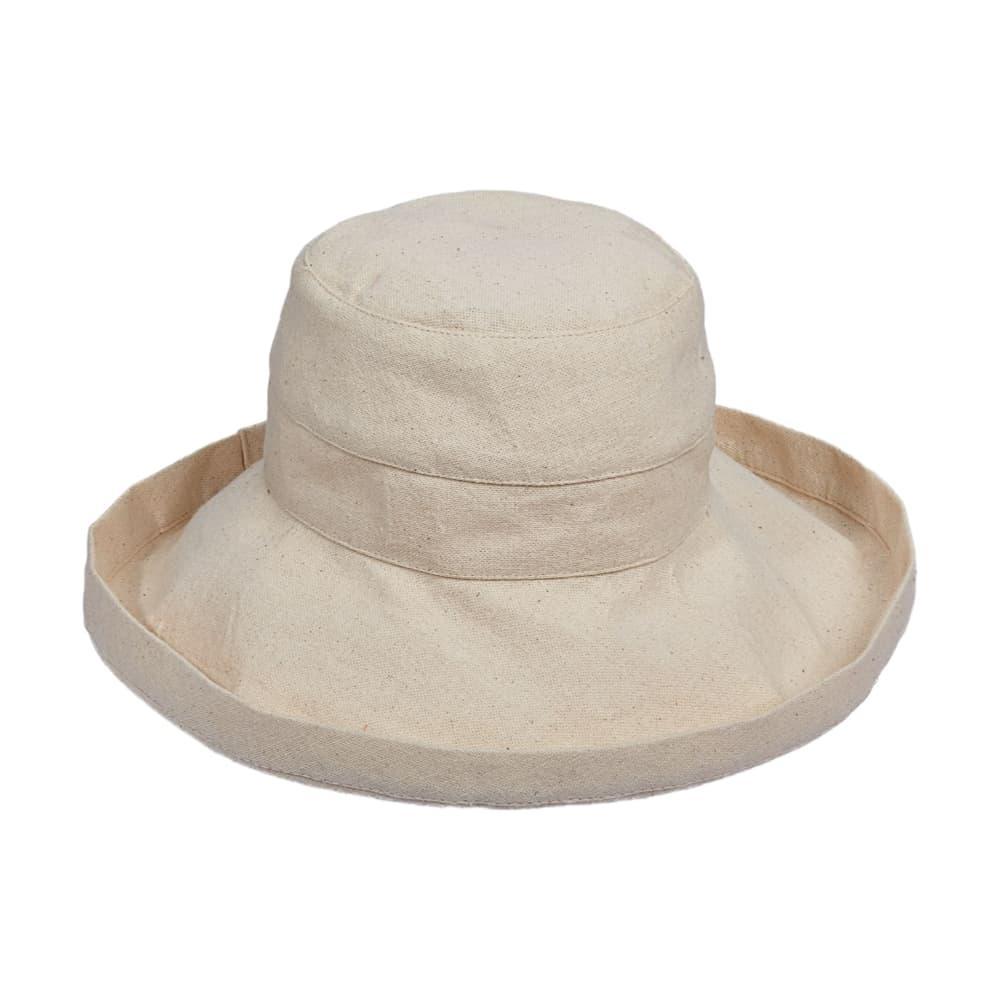 Dorfman Pacific Women's Big Brim Bucket Hat OATMEAL