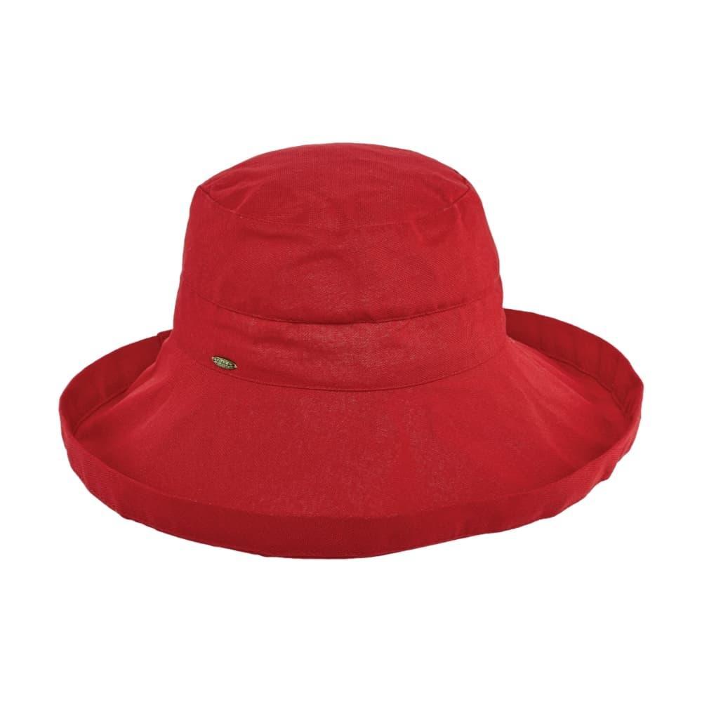 Dorfman Pacific Women's Big Brim Bucket Hat RED