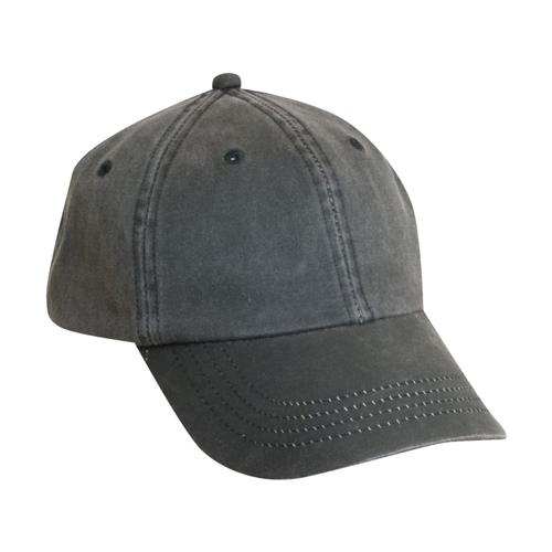 Dorfman Pacific Men's Weathered Cotton Cap BLACK