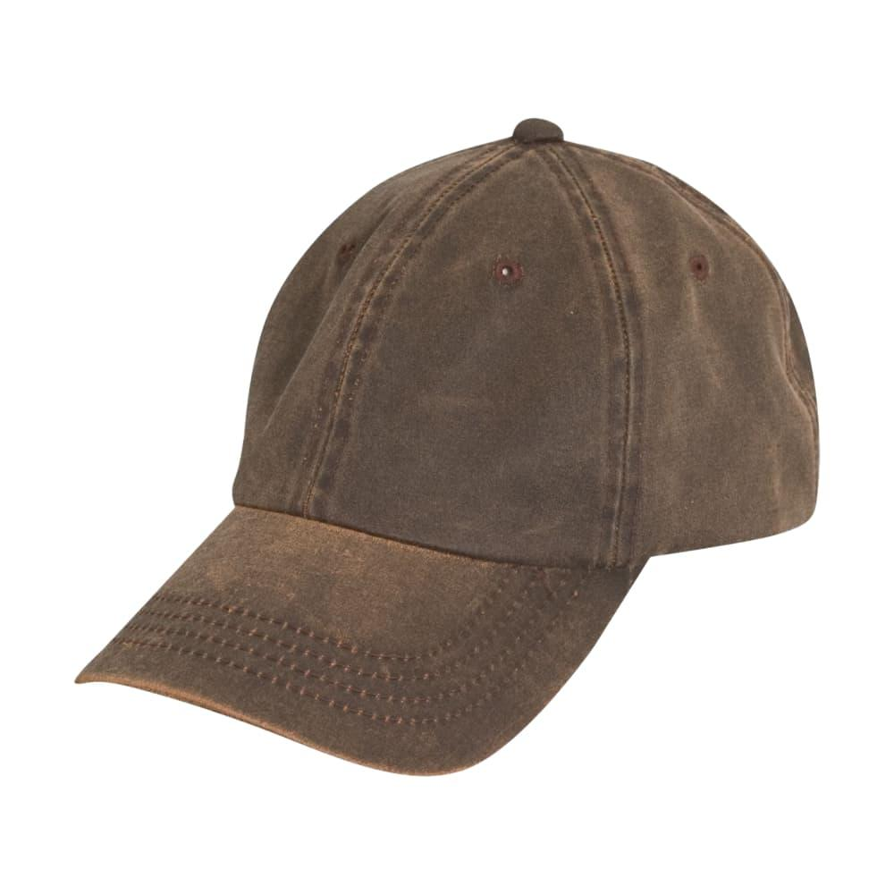 Dorfman Pacific Men's Weathered Cotton Cap BROWN