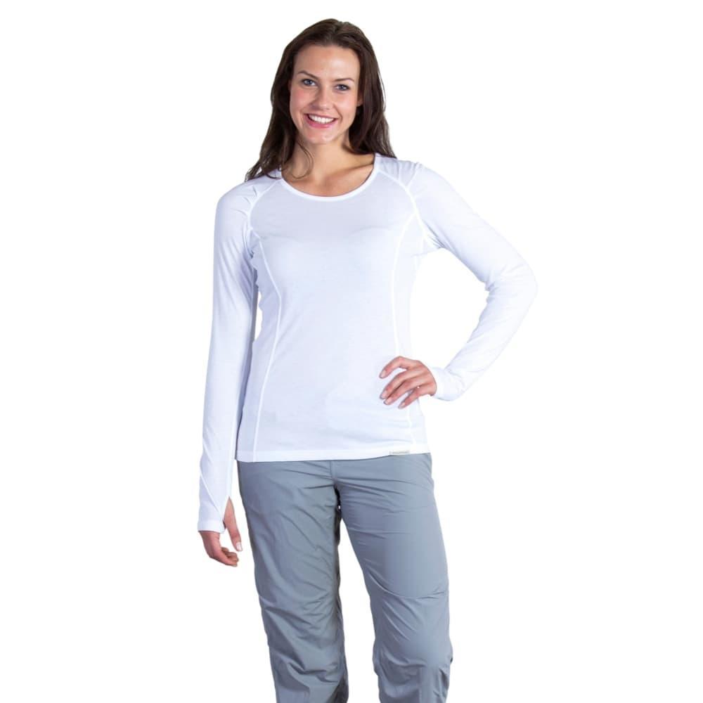 ExOfficio Women's BugsAway Lumen Long-Sleeved Shirt WHITE