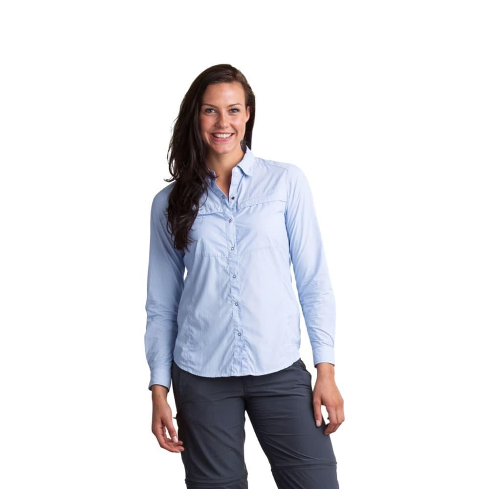 ExOfficio Women's BugsAway Halo Stripe Long-Sleeved Shirt CHAMBRAY
