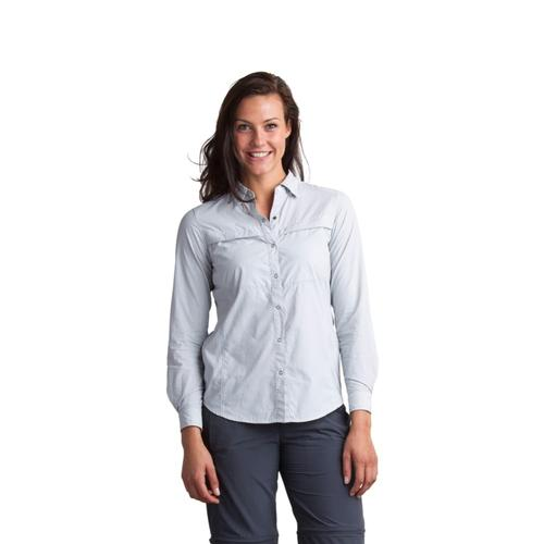 ExOfficio Women's BugsAway Halo Stripe Long-Sleeved Shirt SLATE