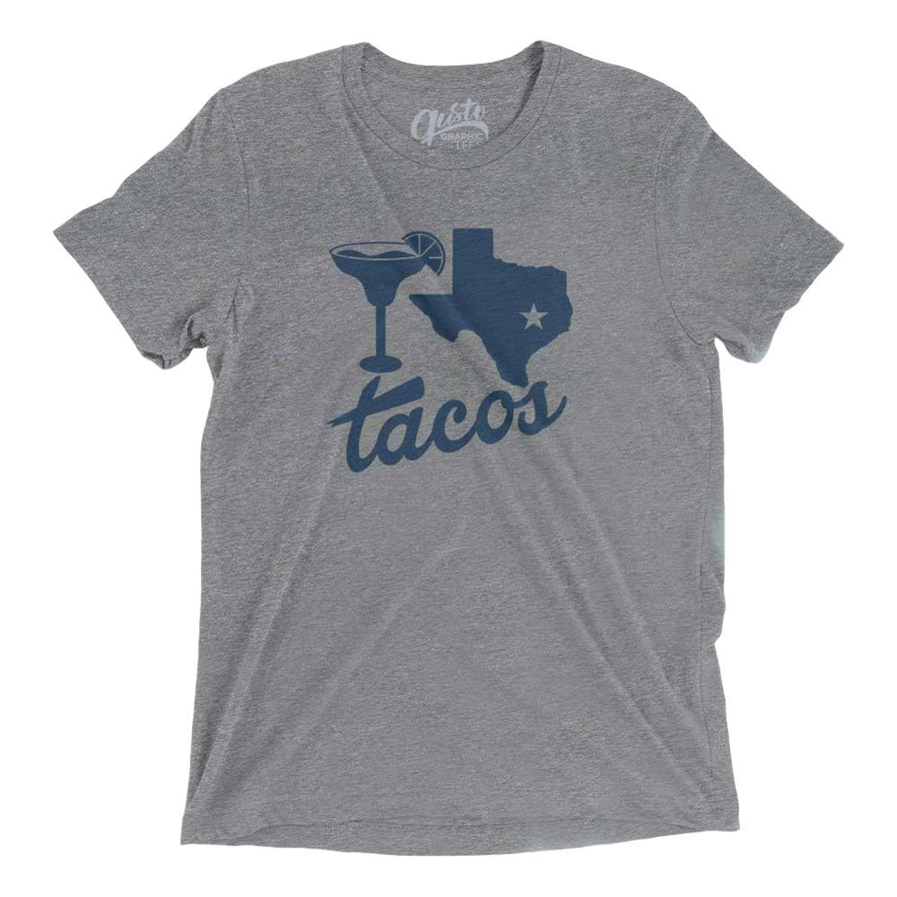 Gusto Graphic Tees Unisex Margaritas, Texas, Tacos T- Shirt