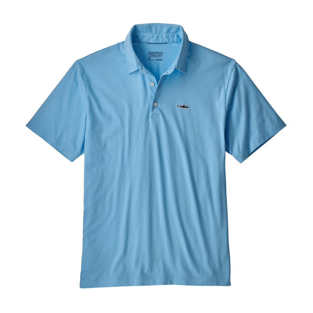Patagonia Men's Polo Trout Fitz Roy Shirt BUPB_BLU