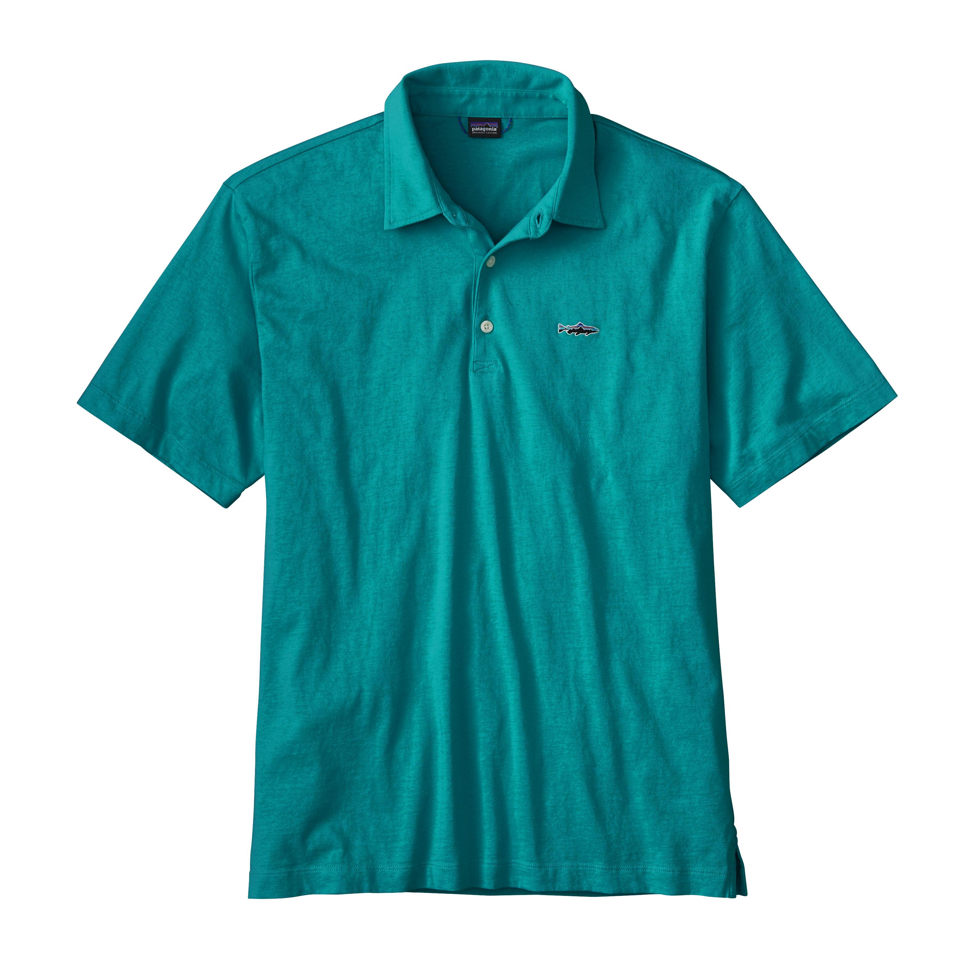 Patagonia Men's Polo- Trout Fitz Roy shirt ELWB_BLUE
