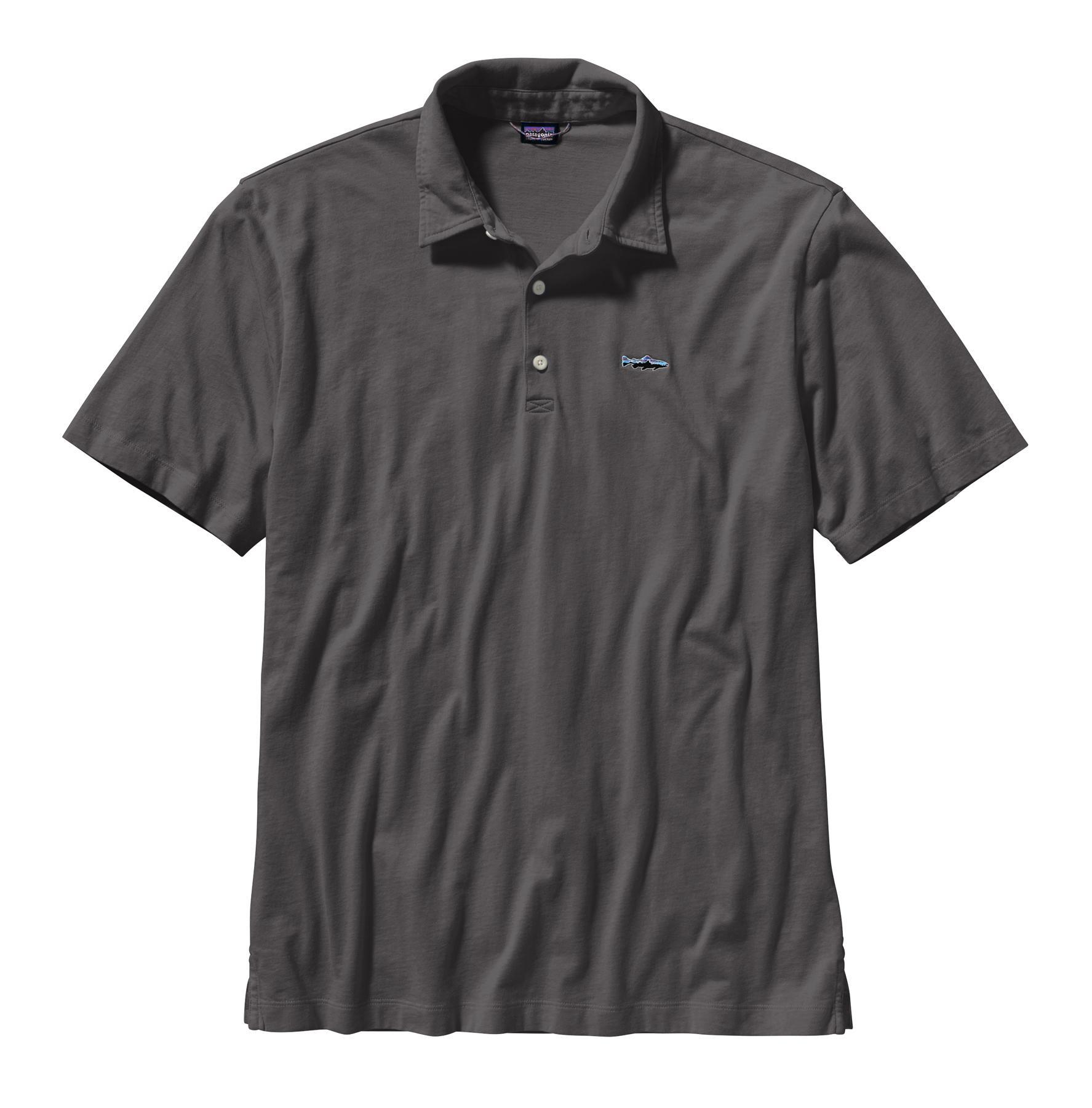 Patagonia Men's Polo Trout Fitz Roy Shirt FGE_FORGREY