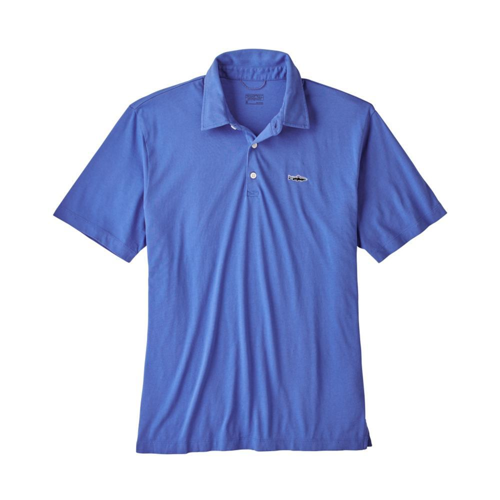 Patagonia Men's Polo- Trout Fitz Roy shirt IMB_BLUE