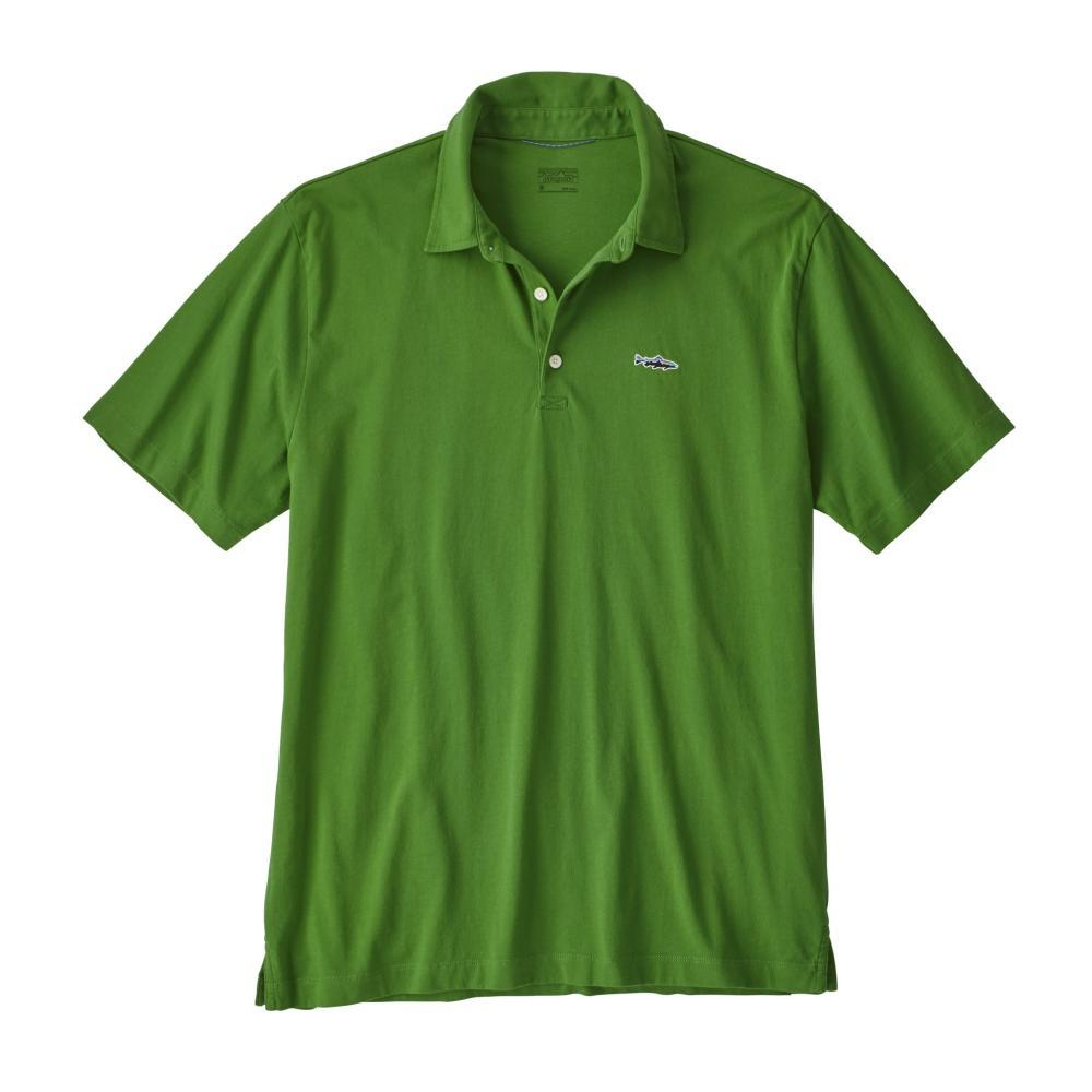 Patagonia Men's Polo- Trout Fitz Roy shirt MYTG_GREEN