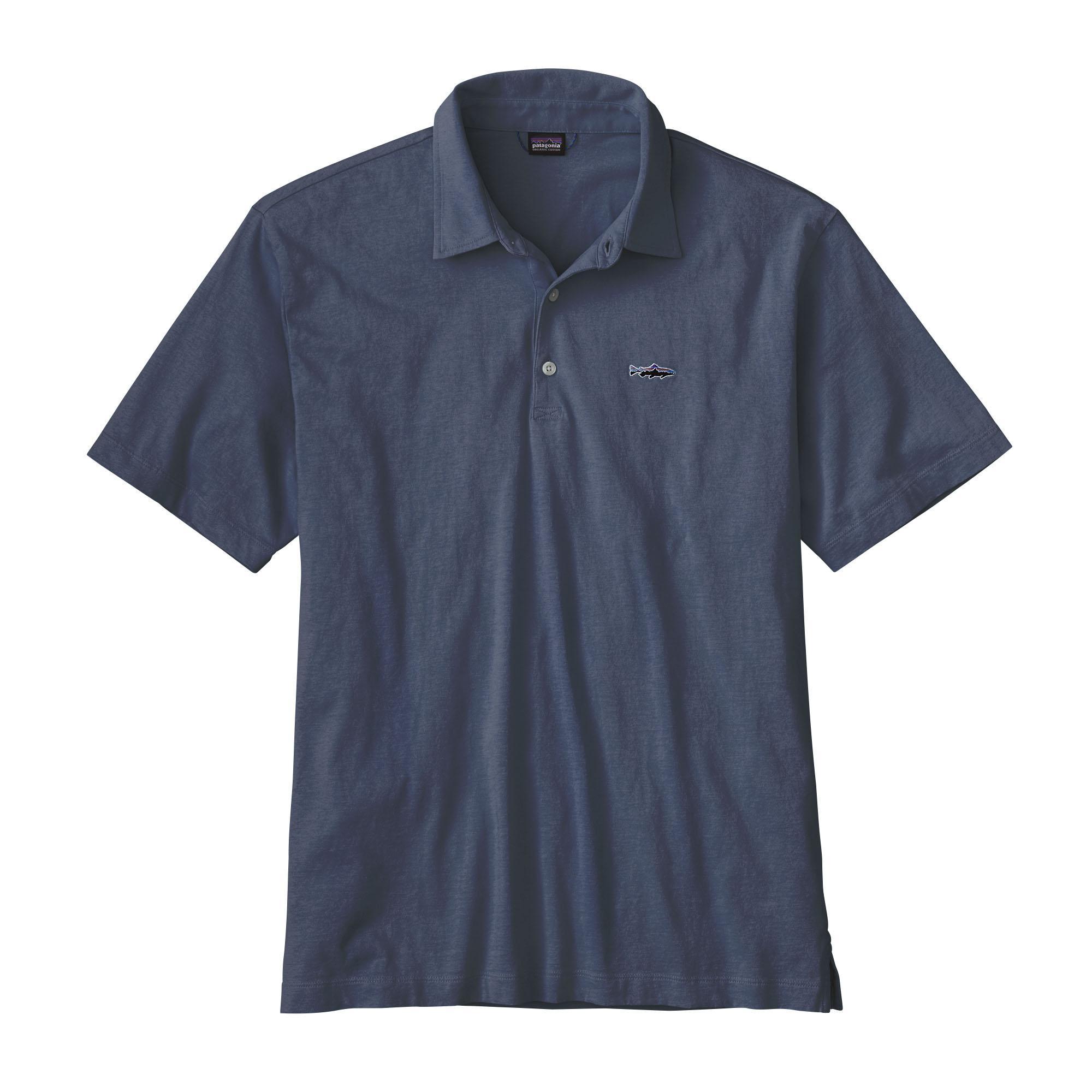 Patagonia Men's Polo- Trout Fitz Roy shirt PRB_BLUE