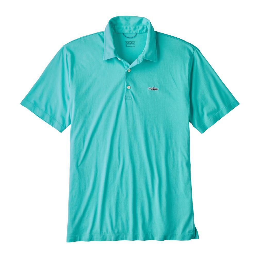 Patagonia Men's Polo Trout Fitz Roy Shirt STRB_BLUE