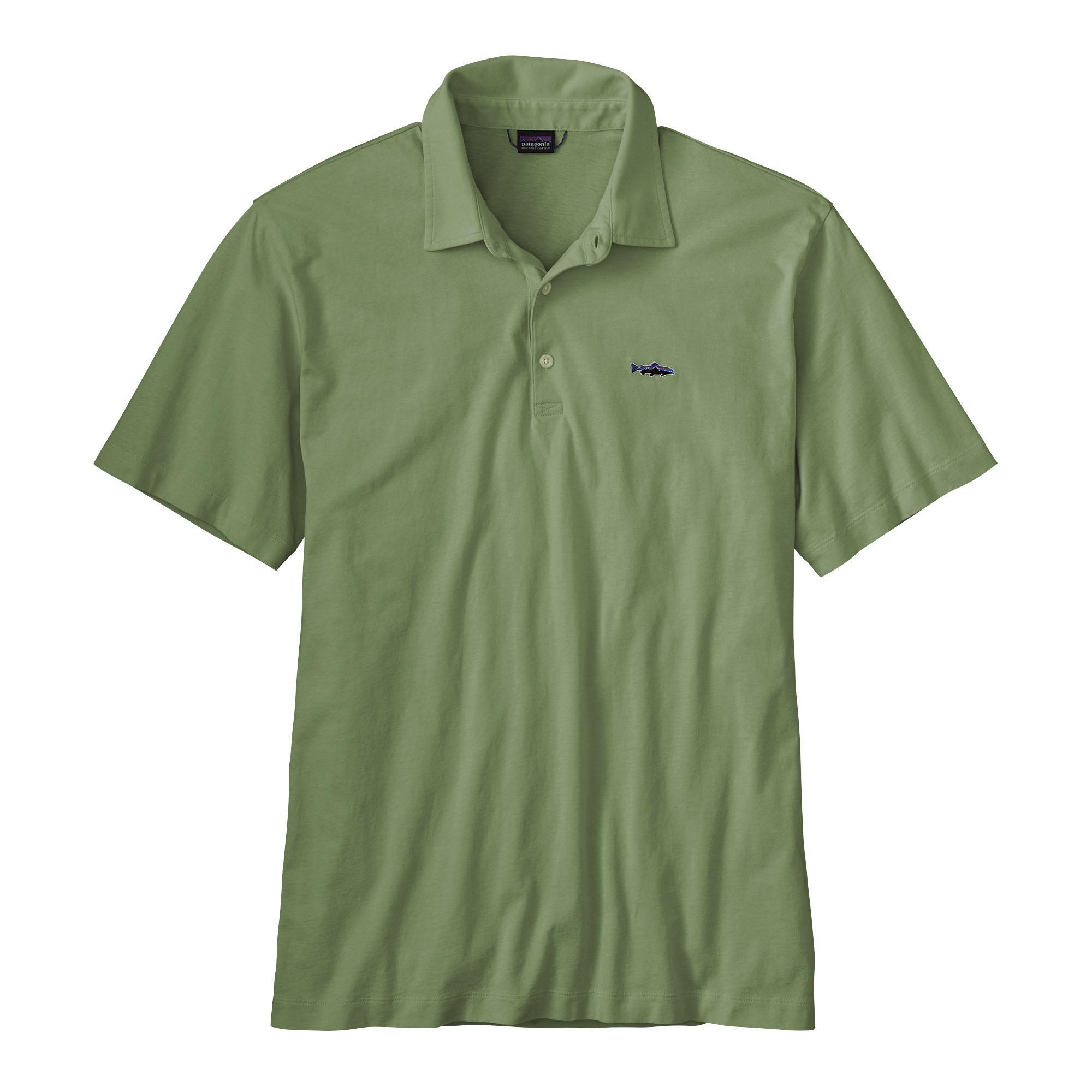 Patagonia Men's Polo- Trout Fitz Roy shirt TRNG_GREN