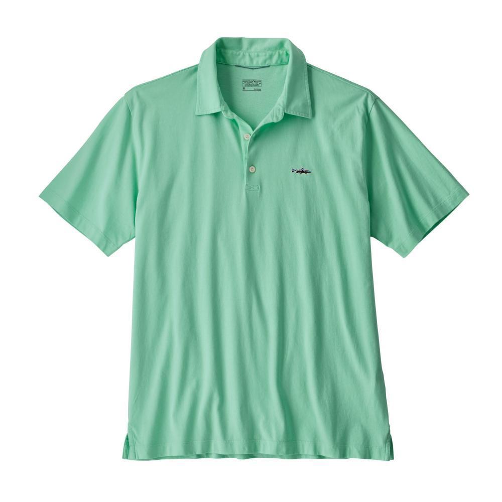 Patagonia Men's Polo Trout Fitz Roy Shirt VJOG_GREEN