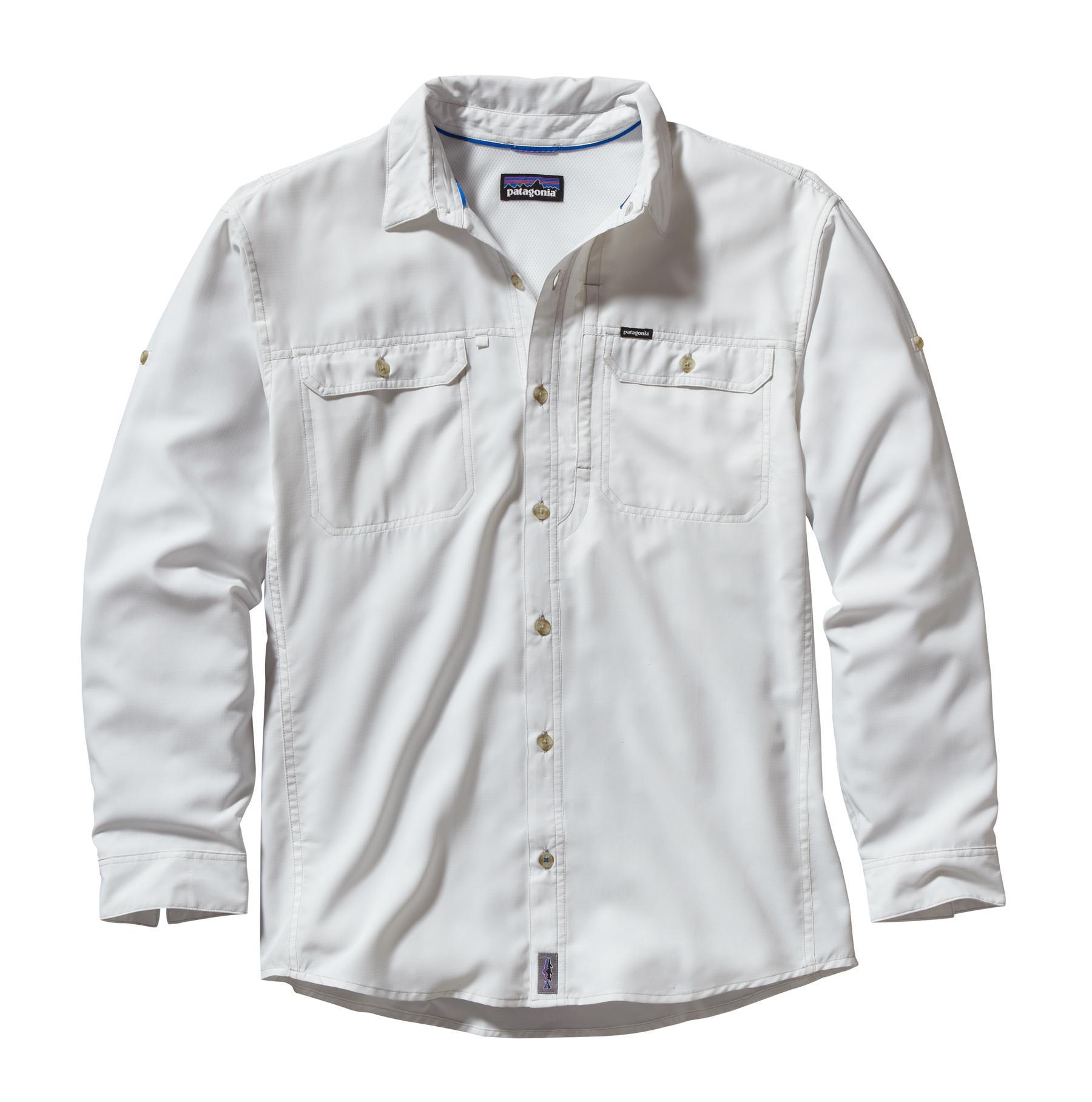 Patagonia Men's Sol Patrol L/S Shirt WHI_WHITE