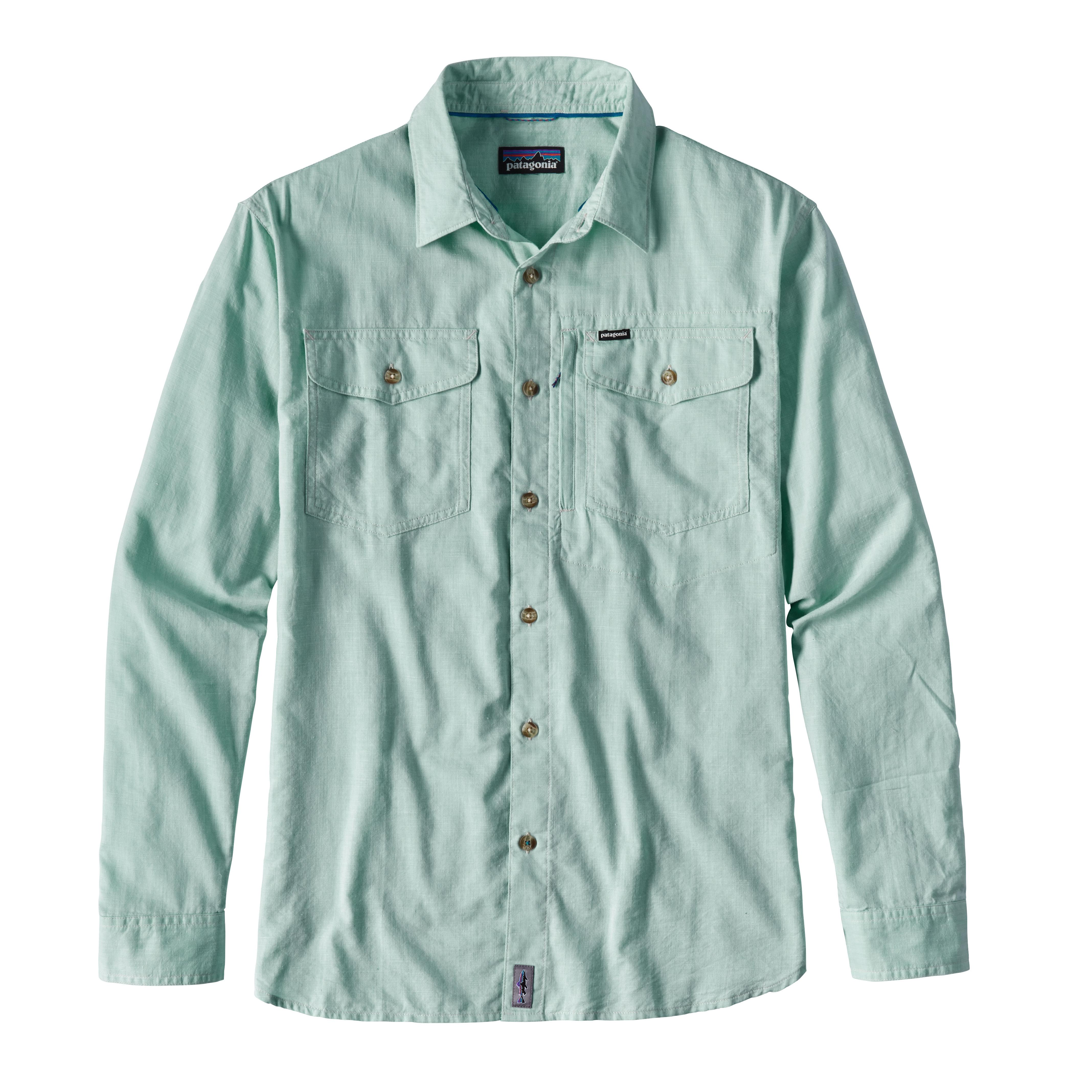 Patagonia Men's Cayo Largo L/S Shirt MRFG_GREEN