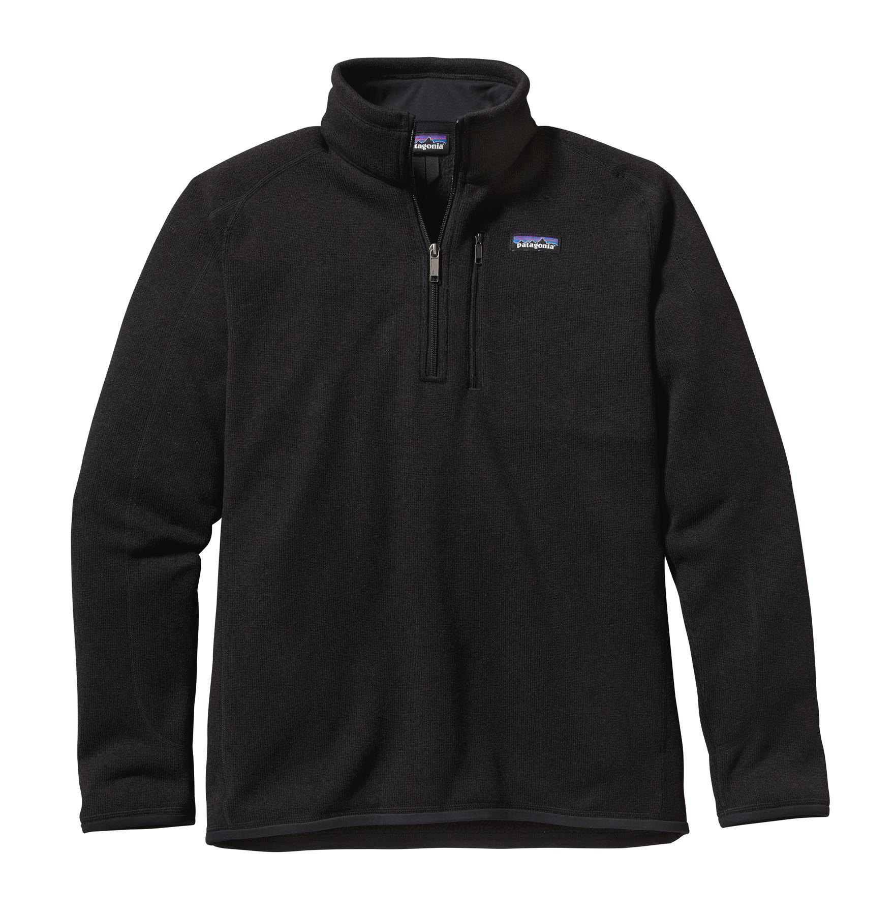Patagonia Men's Better Sweater 1/4 Zip BLK_BLACK