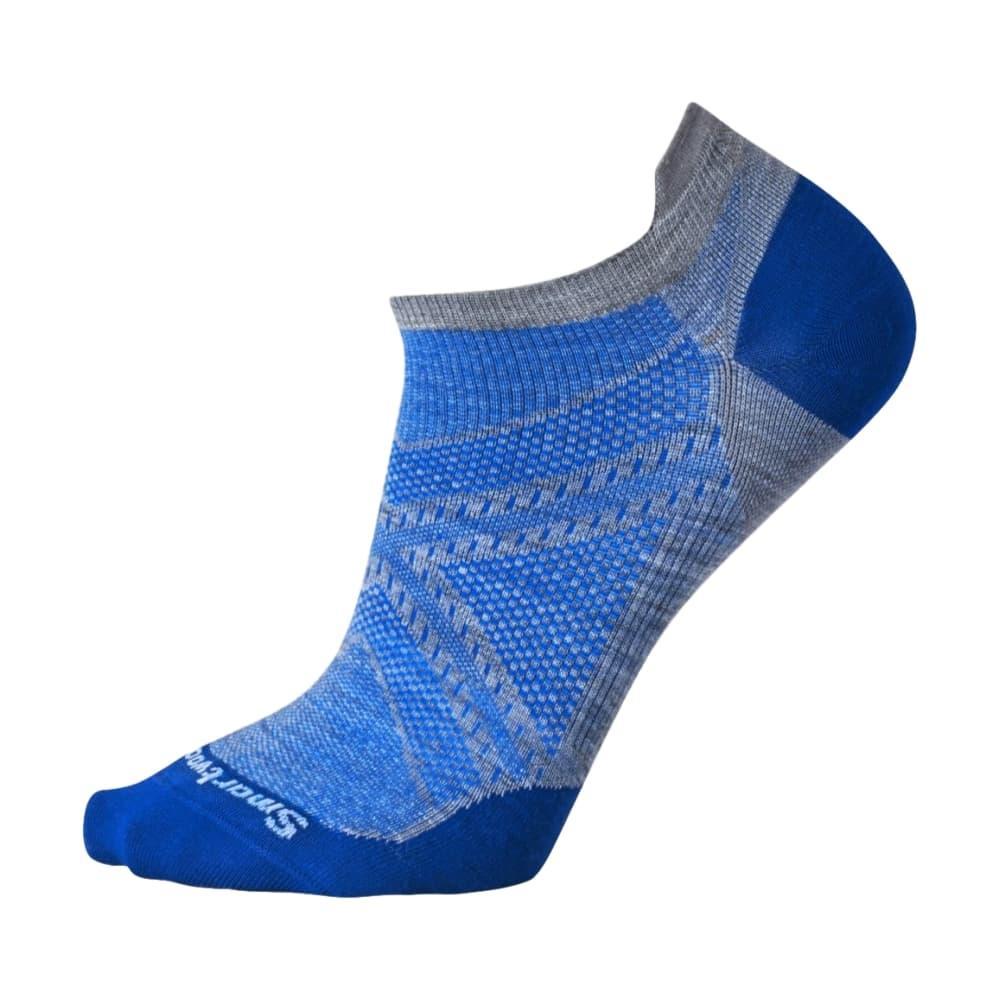 Smartwool Men's PhD Running Ultra Light Micro Socks GRYBLUE_870