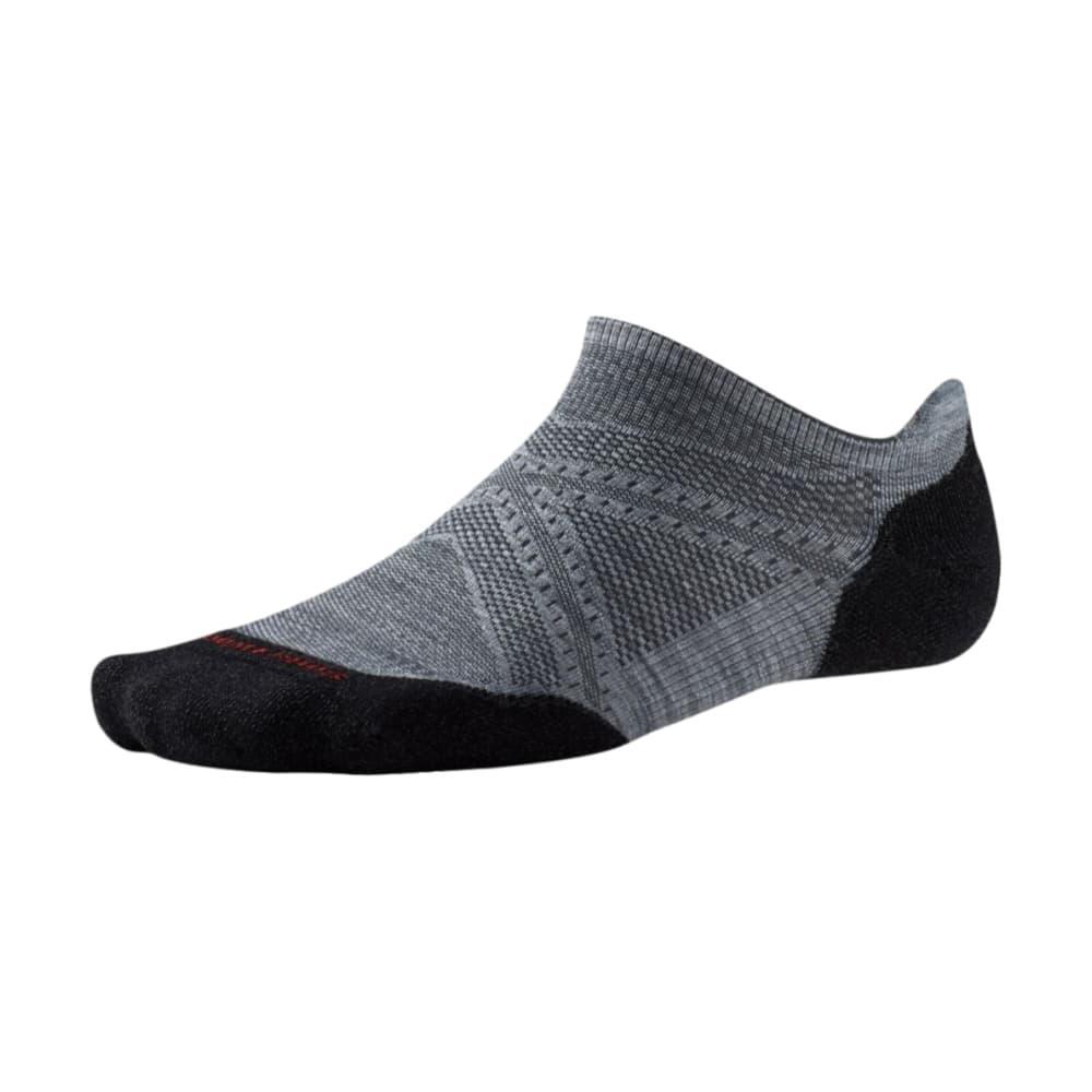 Smartwool Men's PhD Running Light Elite Micro Socks GRAYBLK_026