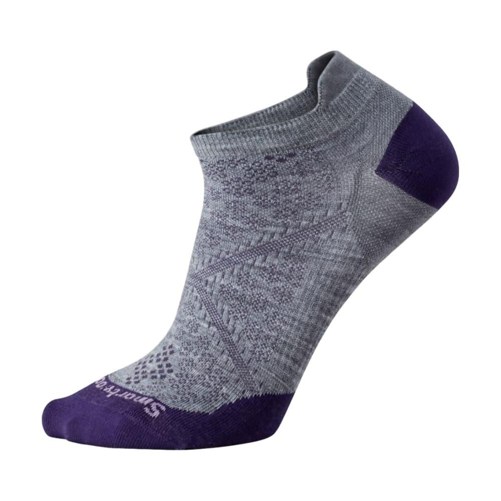 Smartwool Women's PhD Running Ultra Light Micro Socks LTGRAY_039