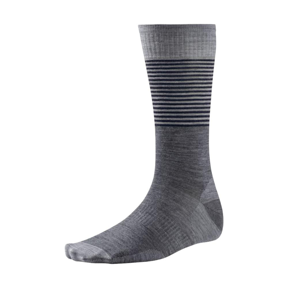Smartwool Men's Tailored Stripe Crew Socks MEDGRAY_052