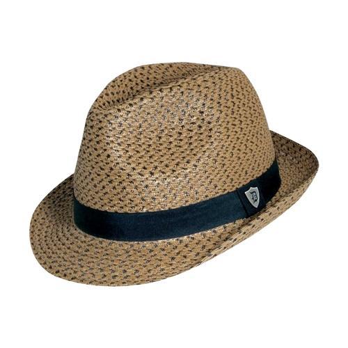 Dorfman Pacific Men's Fedora Paper Braid Hat
