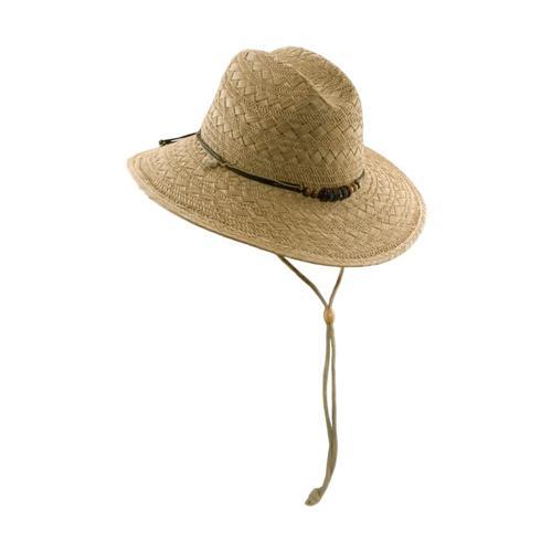 Dorfman Pacific Men's Raffia Lifeguard Hat NATURAL